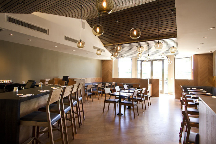 Restaurant Pendant Lighting Adds Lively Warmth To California