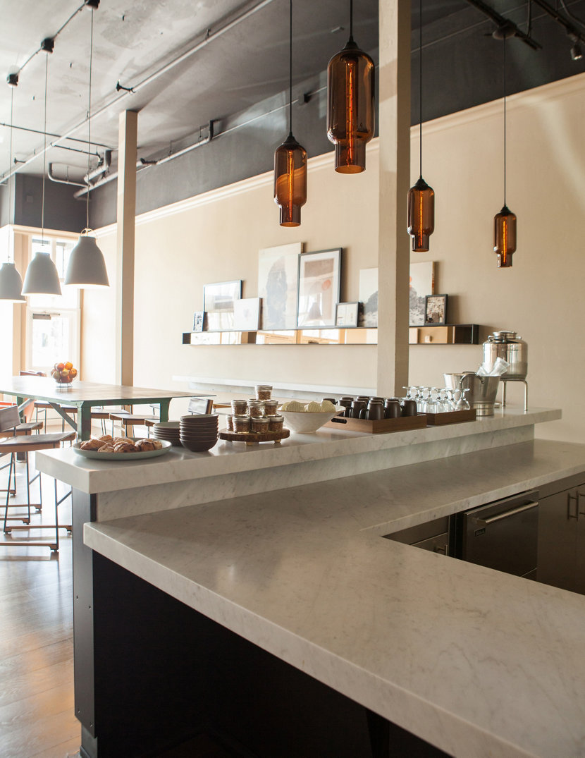 Niche Pharos Pendants Seen at the Wydown Hotel