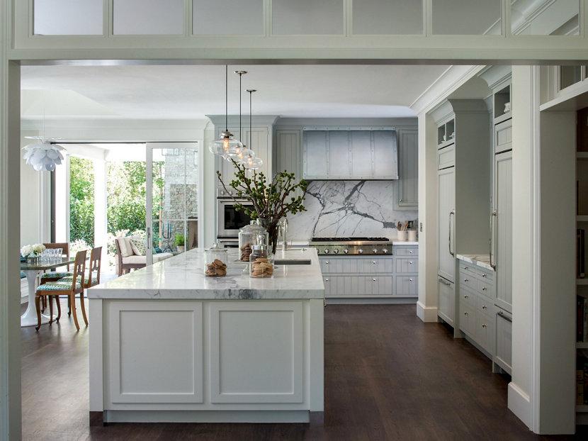 Modern Farmhouse Incorporates Contemporary Kitchen Island